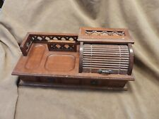 Vintage Home Office Desk Organizer Stationery Roll Top Jewelry Box