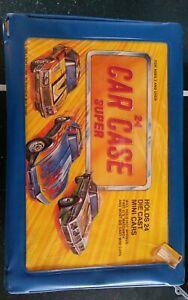 Vintage-1980-039-s-Tara-24-Car-Super-Carry-Case-Two-Trays-Hotwheels-Matchbox-8-cars