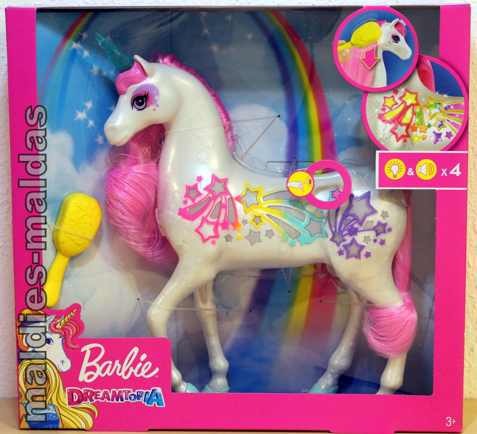 Barbie Dreamtopia Regenbogen  Königreich Magisches Haarspiel Einhorn GFH60 NEU  gli ultimi modelli