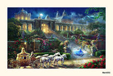 Cinderella Thomas Kinkade Disney Art Print Mounted