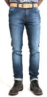 Authentic Mens Nudie Jeans Denim Co Thin Finn Organic Blue Vision Italy $220+