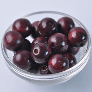 30pcs-18mm-Dark-Red-Round-Natural-Wood-Loose-Spacer-Beads-Wholesale-Bulk-Lot