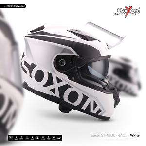 SOXON-ST-1000-RACE-WHITE-INTEGRAL-HELM-MOTORRAD-HELM-FULL-FACE-ROLLER-XS-XXL