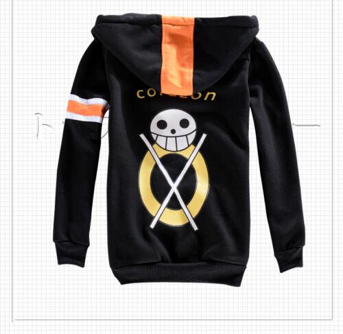 One Piece Trafalgar Law Coat Hat 3rd Cosplay Costume Sweater Hoodie Track No