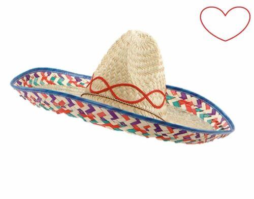 SOMBRERO messicano adulto Costume Festa Accessorio Cappello Spagnolo