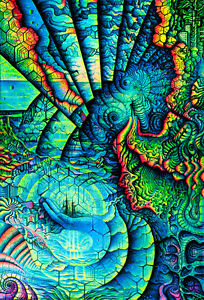 UV-Backdrop-LIFE-Fluorescent-wall-hanging-Visionary-psychedelic-tapestry