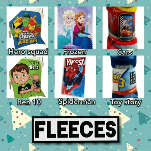 ben10  fleeces Spiderman cars frozen 2 and toy story super hero squad