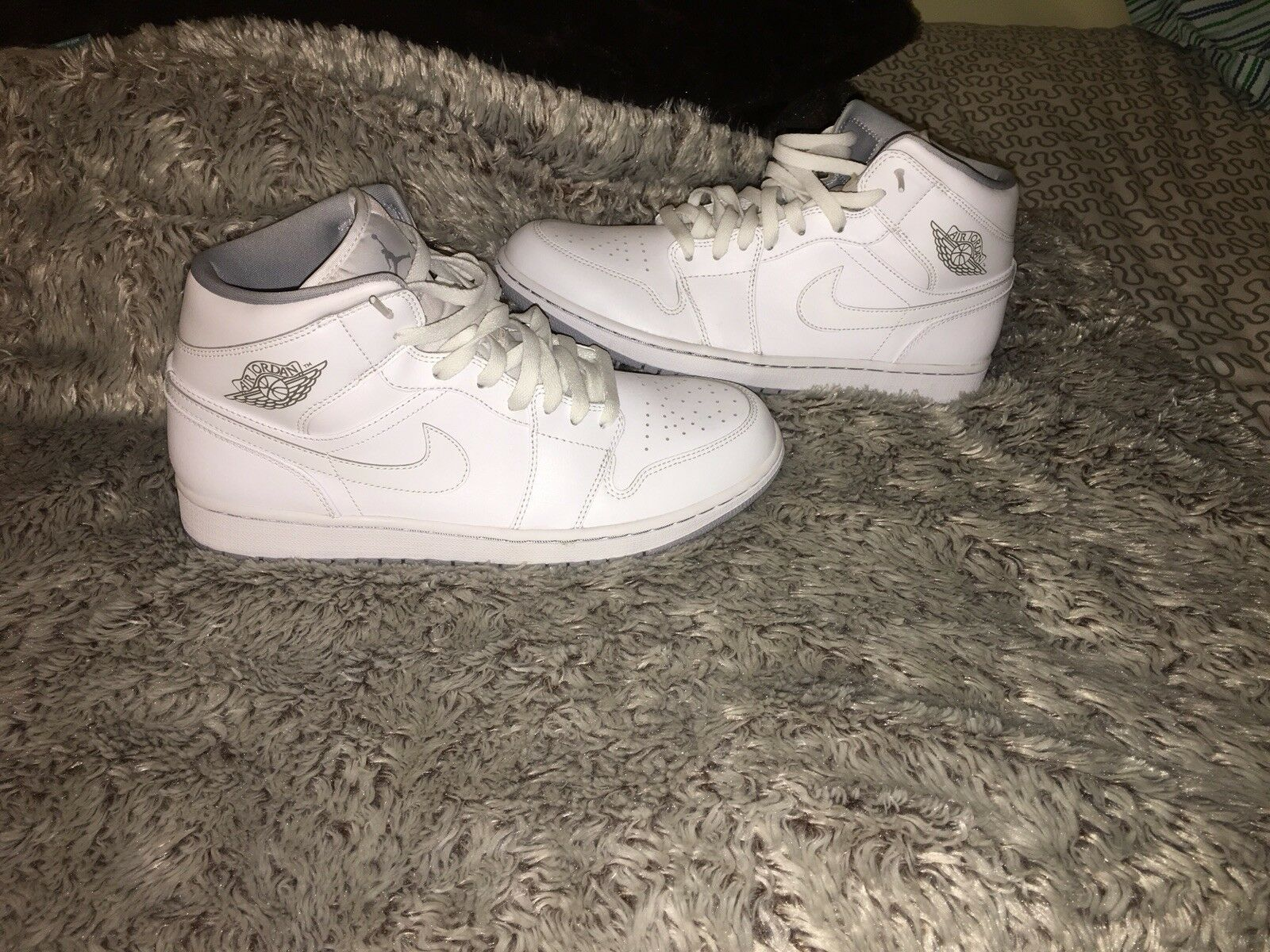 Uomo AIR JORDAN 1 MID WHITE PURE PLATINUM WHITE
