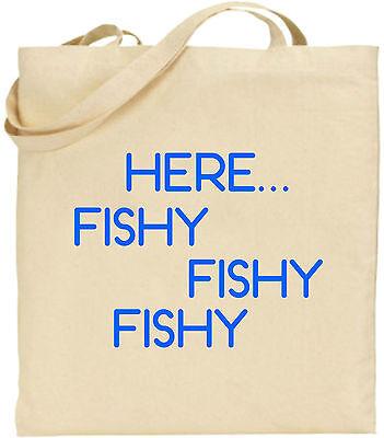 Hier Fischig Baumwolltasche Einkaufstasche Weihnachten Spaß Fishing Cool