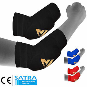 RDX-Elbow-Pads-Protector-Brace-Support-Guards-Arm-Guard-MMA-Gym-Padded-Sports-CA