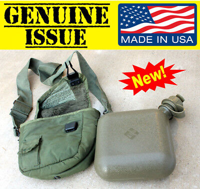 US Military 2 QUART QT collapsible Water CANTEEN BLADDER cover ...
