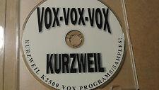 Native Kurzweil ~ VOX-VOX-VOX ~ Over 375mb Cd-Rom ~ K2XXX/K25XX/K2600/2661/etc!