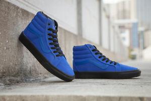 59e03ba85fdb Vans Classic SK8 Hi Top Reissue Blue Black Mens Womens Shoes All ...