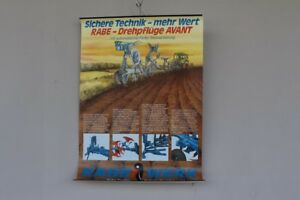 Schulwandkarte-Role-Map-Chart-Raven-Works-Reversible-Plough-Avant-Farming-70s