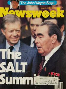 Newsweek June 25 1979 Vtg Magazine President Carter Salt Summit John Wayne Saga