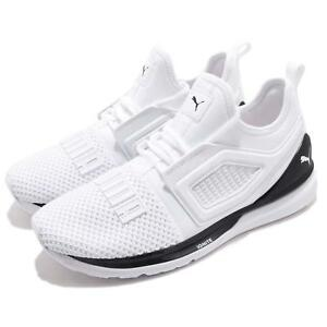 Puma Ignite Limitless 2 White Black Men Running Training Shoes ... e3ef16e1b