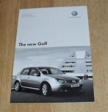 Volkswagen VW Golf Mk5 Price List 2005 GTI GT TDI 2.0 Sport 1.9 TDI SE 1.6 S 1.4