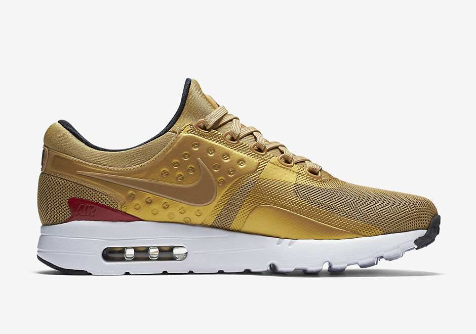 NEW 789695-700 Men's NIKE AIR MAX ZERO QS SHOES !! METALLIC GOLD New shoes for men and women, limited time discount