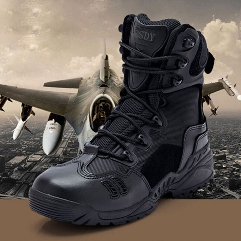 Hot Sale Uomo Military Tactical Desert Ankle Stivali Man Combat Hiking Shoes Comfy