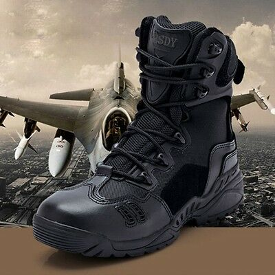 Hot Sale Men Military Tactical Desert Ankle Boots Man Combat Hiking Shoes Comfy