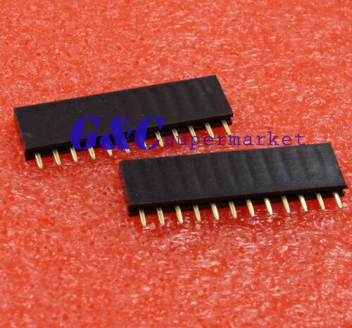 100PCS 2.54mm Pitch 12 Pin Female Single Row Straight Header Strip
