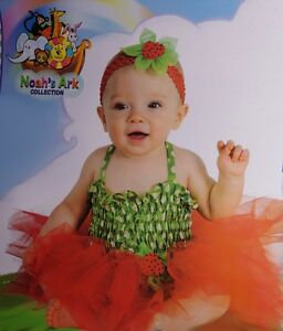 f3db1d84baea Baby Girls Infant Ballet STRAWBERRY Halloween Costume TUTU NB 0 6 12 ...