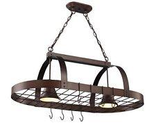 "2 Light 36"" Oil Rubbed Bronze Ceiling Island Pot Rack Light! Best Price/Service!"