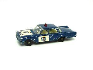 Matchbox-Lesney-No-55b-Ford-Fairlane-Police-Car-RARE-DARK-BLUE