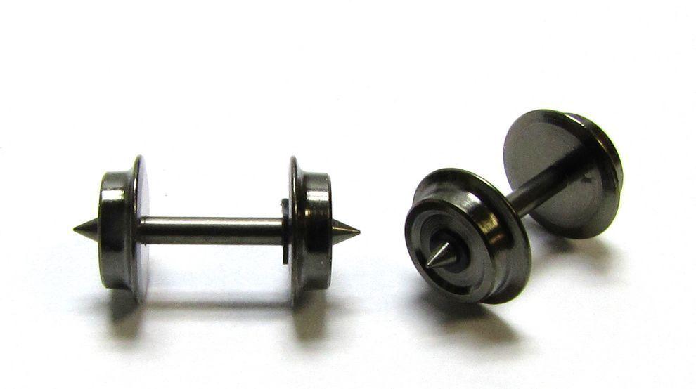 24 x Präzisions-Radsatz Fleischmann Lkdm 5,6 mm Achse 15,1 mm Spur N - NEU
