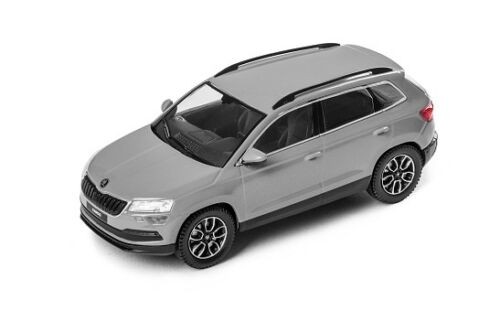Original skoda karoq SUV maqueta de coche 1:43 acero gris gris