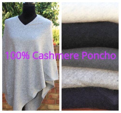Pure 100 en Pashmina Cape De Grey neck Rupture medium Grey Ladies Stock Cashmere Warm light navy Jumper Poncho V Black Women Grey Wrap charcoal FdqrWdwZX4