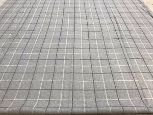 Grey-check-crafts-remnant-fabric-sewing-material-piece-110x105cm