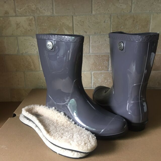 ef59a09a7e0 UGG SIENNA NIGHTFALL RUBBER RAIN BOOTS FUR INSOLE SIZE US 9 WOMENS