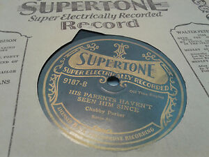 Chubby-Parker-78-Supertone-Electric-9187-His-Parents-Haven-039-t-Hillbilly-Sleeve