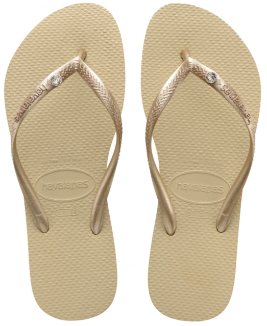 97502a947322 Havaianas Slim Crystal Glamour SW Rose Gold Women Summer Sandals ...