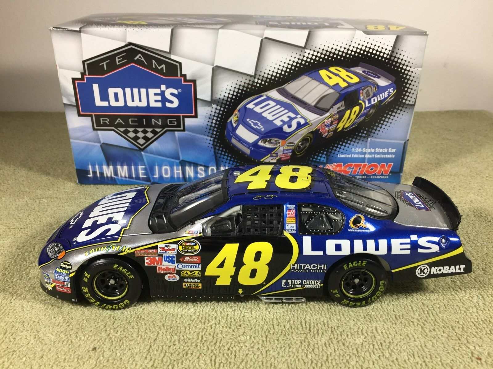 2005 action Jimmie Johnson  48 Lowes'06 aperçu CHEVY Diecast NASCAR 1 24