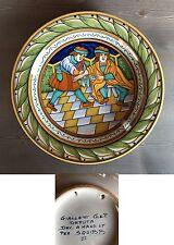GIALLETTI DERUTA VINTAGE PIATTO DA PARETE DIPINTO Serie Squibb '900 26 cm
