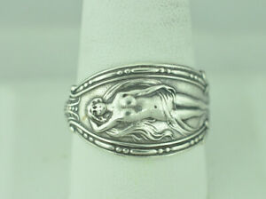 Beautiful-925-Sterling-Silver-Nude-Venus-Woman-Spoon-Ring