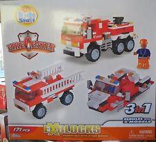 KIDS STUFF - EXBLOCKS - FIRE CENTER - 171 PIECES - FOR AGES 6+