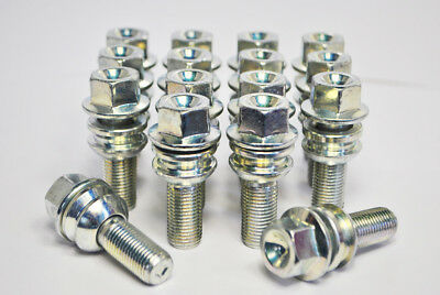 20 x M14 x 1.25 Zinni 27mm Tapered Wheel Bolts Including EVO Lockers