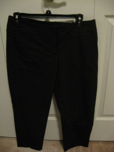 2239e1ef2b3 Women s Apt. 9 Torie Modern Fit Black Capri Dress Pants Size 4