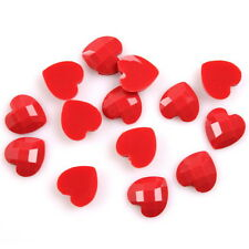150x Hot Sale Scarlet Turtle Face Heart Charms Stick On Resin Beads Flatbacks L