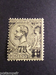 Bien Monaco 1924, Timbre 71, Prince Albert 1°, Surcharge, Neuf**, Vf Mnh Stamp