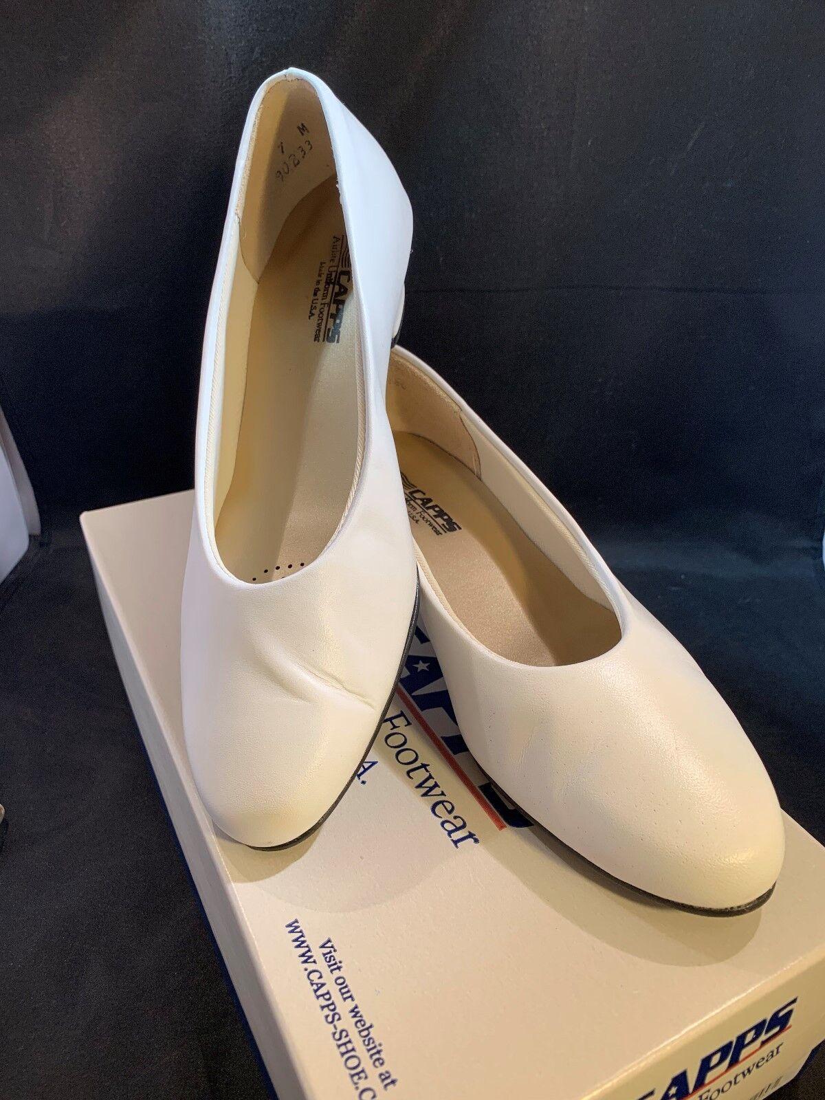 Bates 775 femmes Sail blanc Leather Uniform Dress Pumps CAPPS chaussures Sz 7