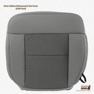 2005 Ford F150 Seat Covers >> 2004 - 2006 Ford F150 XLT Driver Bottom Replacement Flint Gray Cloth Seat Cover | eBay
