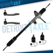 5pc Manual Steering Rack And Pinion Tierods Ball Joint For 1996 2000 Honda Civic