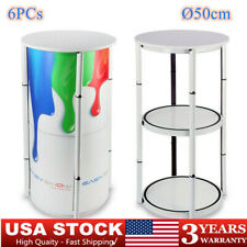 417 Inch Round Aluminum Spiral Tower Counter Case Display Box Shelves White