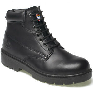 MENS-DICKIES-ANTRIM-SAFETY-WORK-BOOTS-SIZE-UK-4-13-STEEL-TOE-CAP-BLACK-FA23333