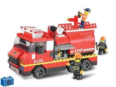 FIRE EXTINGUISHING WATER TANKER * 281 pcs * COMPATIBLE BRICKS * FIREMEN