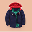 Mode-enfants-VESTE-Avec-Capuche-Parka-Matelasse-Manteau-Garcon-hiver-manteau-Taille-104-146 miniature 7
